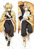 Promini Demon Slayer Kimetsu No Yaiba Agatsuma Zenitsu Anime Charactor Funda de almohada con cremallera oculta cuerpo funda suave, 50 x 160 cm