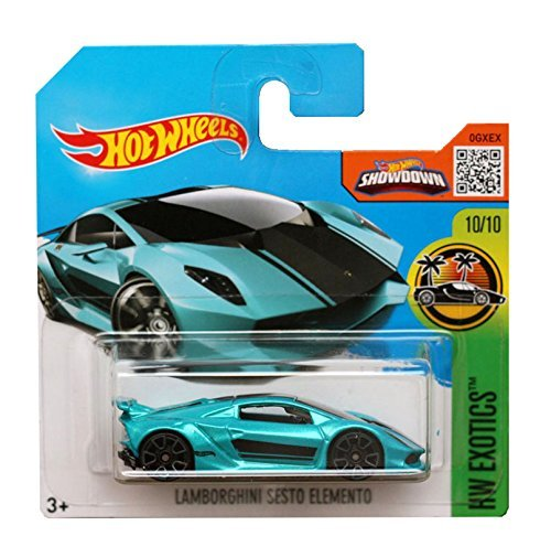 Hot Wheels 2016 Exotics - Lamborghini Sesto Elemento (Turquoise) Short Card by Hot Wheels