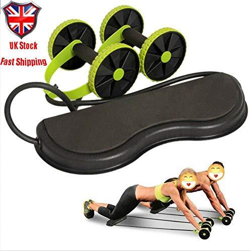 Adoture Multifunktionale Doppel-AB-Rollenrad-Heim-Fitnessgeräte Power-Roll-AB-Trainer-Core-Räder Stärken die Muskeln Bauchmuskelübungen Für Bauch- und Ganzkörpertraining Fitness