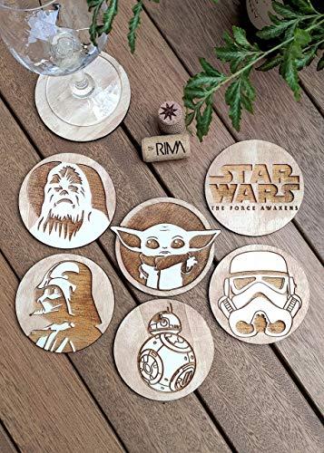Set di 6 Star Wars Sottobicchiere - Legno