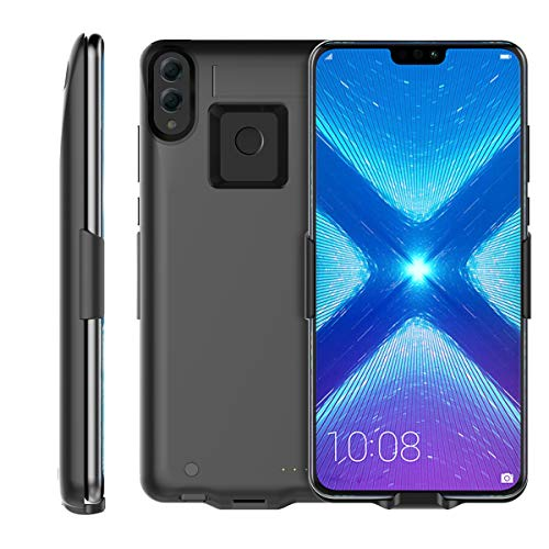 Huawei Honor 8X 6500mAh Battery Charger Case, FugouSell Portable Rechargeable Extended Power Bank Backup External Juice Case Cover for Huawei Honor 8X (Black)