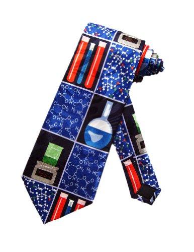 Steven Harris Chemistry Science Lab Necktie - Navy Blue - One Size Necktie
