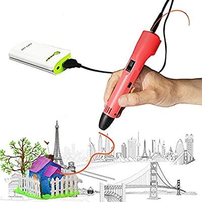 3D Printing Pen, 3D Doodler Pen with LCD Screen,Drawing Pen Printer with 16 Colors 80FT PLA Filament Refills for Kids,Artist, Adults, Holiday, Christmas DIY Gifts