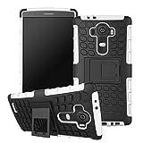 Funda para LG G4, Soporte de plástico rígido de TPU Suave, Resistente, de Doble Capa, híbrida, Carcasa Protectora DE 5,5 Pulgadas