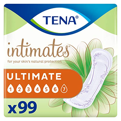TENA Intimates Ultimate Absorbency Incontinence/Bladder Control Pad, Regular Length, 99 Count (Packaging May Vary)
