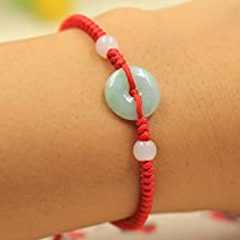 Small gifts jade peace bracelet child women girls red string bracelets handmade opening simple hand rope wild jewelry