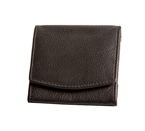 ANDERS mini monedero cuero diseño aleman negro