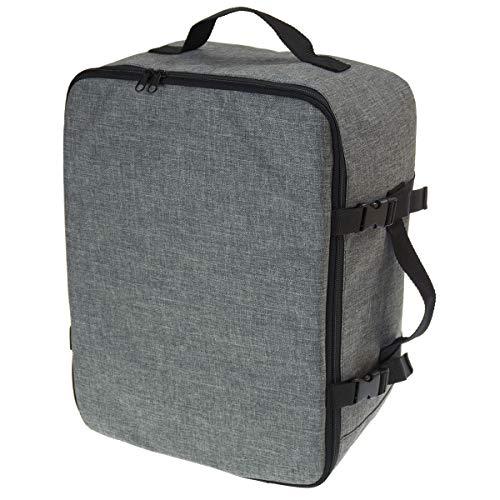 Multifunktions Handgepäck Rucksack gepolstert Flugzeugtasche Handtasche Reisetasche Rucksack gepolstertkoffer für Flugzeug Größe 40x30x20cm Schwarz Len [102]
