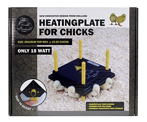 Küken-Wärmeplatten-Set: Wärmeplatte Comfort 25x25cm (15W, 230V) +Temperaturregler für die professionelle Kükenaufzucht, Heizmatte, Kükenwärmer, Heizkabel, Inkubator, Kunstglucke, Wärmebirne - 6