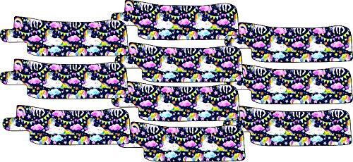 Nasogastric or Oxygen Tube precut Adhesive Tape Rainbow Unicorns Theme x 10 Pack. (Left & Right Side Mix)