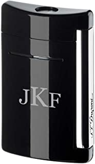 Personalized ST Dupont MiniJet Black As Night Torch Flame Lighter with Free Monogram Engraving