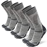 Merino Wool Hiking & Walking Socks 3 pack (Light Grey, US Women 11-13...