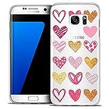 Carcasa para Samsung Galaxy S7 Edge, Sweetie Doodling Hearts