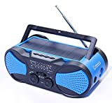 Best Crank Radios - Hurricane Radio Weather Radio,Waterproof, Hand Crank, Solar/Battery Powered Review