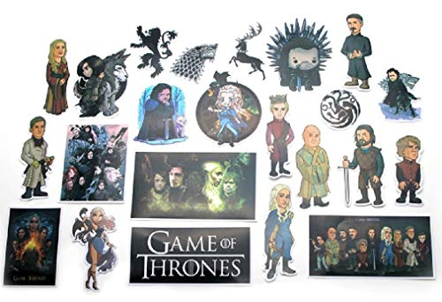 TV Show Themed Game of Thrones GOT 23 Piece Sticker Decal Set for Kids Adults - Laptop Motorcycle Skateboard Decals