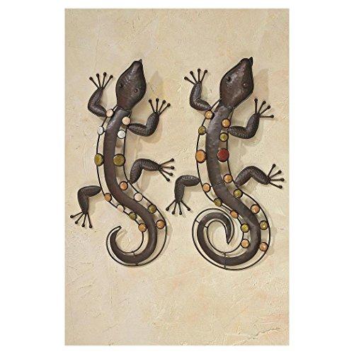 Wanddekoration Echse Salamander aus Metall 52cm