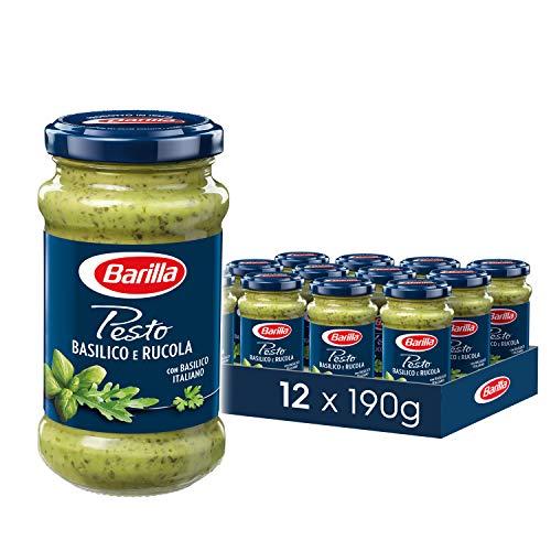 Barilla grünes Pesto Basilico e Rucola – Pesto 12er Pack (12x190 g)