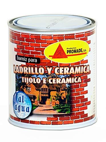Promade - Barniz para Ladrillo, Cerámica y Piedra. Al Agua Incoloro Semi Brillo - 750 ml
