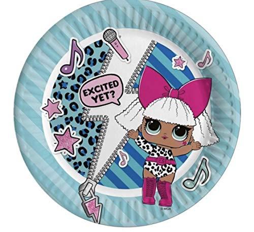 Ciao 23173 decoratieve papieren borden Lol Surprise Ø 23 diameter 8 stuks