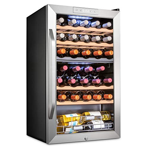 Ivation 33 Bottle Dual Zone Wine Cooler...