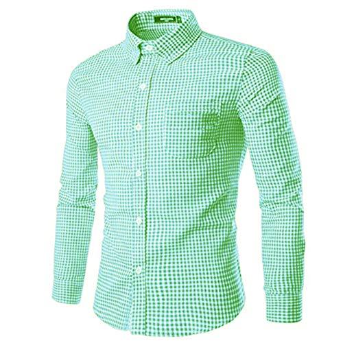 SOOPO Camisa de Manga Larga para Hombres Camisa de algodón con Ajuste Regular para Negocios, Bodas, Varios Colores y tamaños