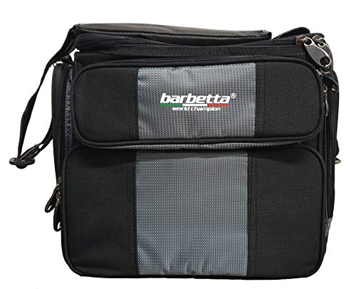 Barbetta – Bolsa con cajas de pesca, material resistente Deluxe con costuras reforzadas y correa acolchada, 2 compartimentos, tela antilluvia