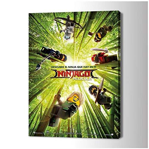 SDGW The Lego Ninjago Movie Art Posters and Prints Arte De La Pared Pinturas En Lienzo Imágenes Sala De Estar Decoración del Hogar-60X80Cm Sin Marco
