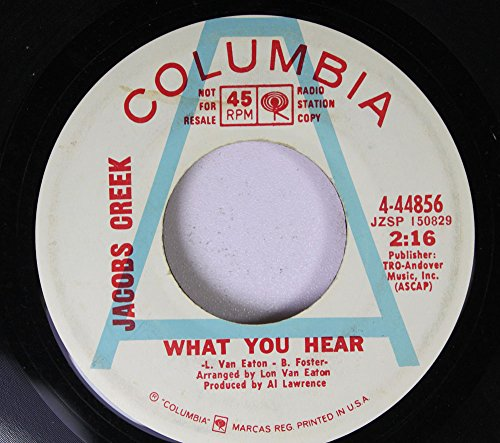 Jacobs Creek 45 RPM What You Hear / A Love Song