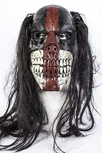 The Rubber Plantation TM 619219290012 Masque de clown Voodoo Killer Halloween en latex, accessoire d'horreur, unisexe, adulte, taille unique