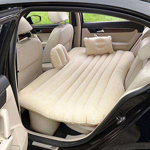Vinteky® Auto SUV Luftmatratze Bewegliche Dickere Luftbett Auto Matratze für Reisen Camping Outdoor Aktivitäten (Beige)