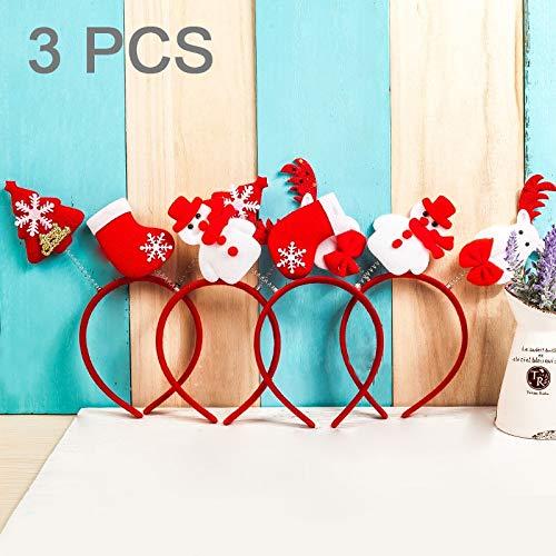 BZN 3 PCS Weihnachtszubehör Kind-Haar-Band, gelegentliche Art Lieferung