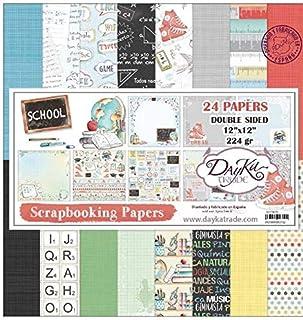 "Kit collection SCRAPBOOKING ""SCHOOL"" DAYKA 24 feuilles"
