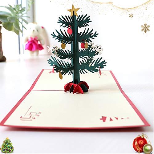 Sunshine smile 3D Pop Up Weihnachtskarten,Klappkarten Grußkartenfür Frohe Weihnachten,Weihnachten Karten, Karten personalisiert,Klappkarten,Grußkarten,Handmade Weihnachtsgrußkarte-Frohe Weihnachten