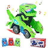 Transforming Dinos Car,Dinosaurier Transformator Auto Spielzeug,Dinosaurier-Spielzeug,Dinosaur Led Car,Dinosaurier Transformator,Dinosaurier Transformers Spielzeug, Verformung LED Auto Kinder