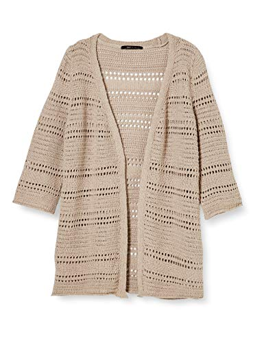 ONLY Damen ONYVIOLA Life 3/4 Cardigan KNT Strickjacke, Warm Sand, S