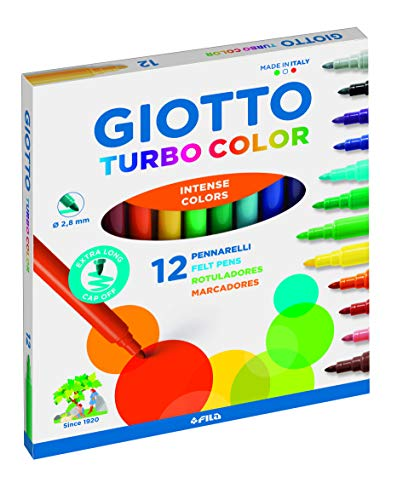 Giotto Turbo Color Estuche de 12 Rotuladores