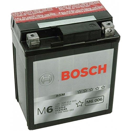 Bosch YTX7L-BS - 0092M60060 - Batería sellada con ácido para moto, scooter, quad, cross