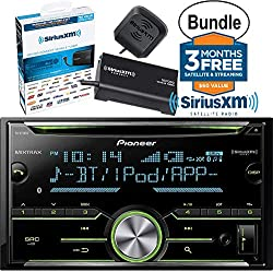 Pioneer FH-X730BS Vehicle CD Digital Music Player Receivers, Black & SiriusXM SXV300V1