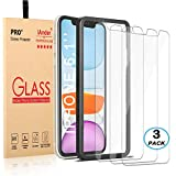 [3-Pack] iAnder for iPhone 11 / iPhone XR Screen Protector with [Frame Easy Installation Tray] [Tempered Glass] Screen Protector Compatible with iPhone XR/iPhone 11 (6.1 inches Only)