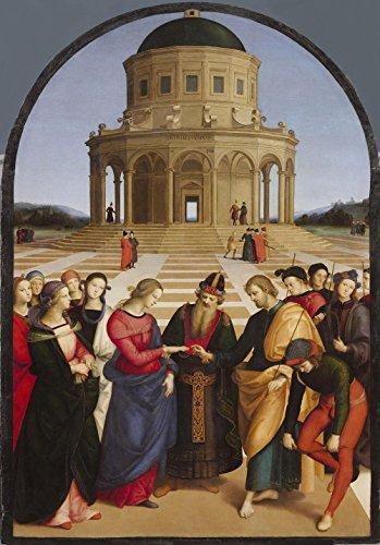 LAMINATED 19x28 Poster: Raffaello - Spozalizio - Web Gallery of Art