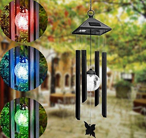 Hängende Windspiele Solarbetriebene Farbwechsel LED-Licht Garten Windspiele Gartenhof Dekoration Mode Solar