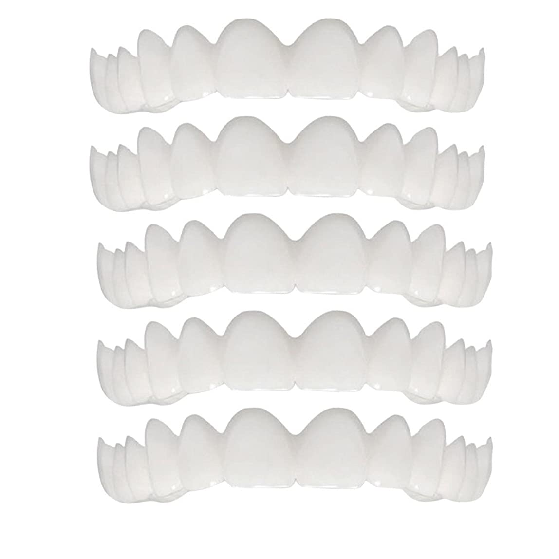ミシン目フェデレーションスラムシリコーンシミュレーション歯ホワイトニングブレース(5個),A