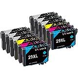12 Uniwork Cartouches d'encre compatibles pour Epson 29XL 29 pour Epson Expression Home XP-455 XP-452 XP-445 XP-442 XP-435 XP-432 XP-355 XP-352 XP-345 XP-342 XP-335 XP-332 XP-257 XP-255 XP-247 XP-245