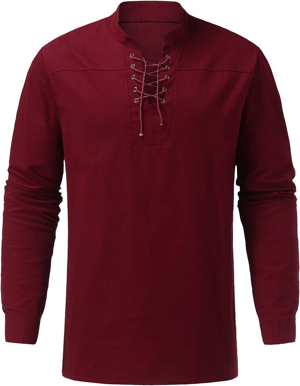 Men's Casual Long Sleeve Shirts Fishing Shirts Men Longline T Shirt Best Mens Undershirt Round Neck Sweatshirts