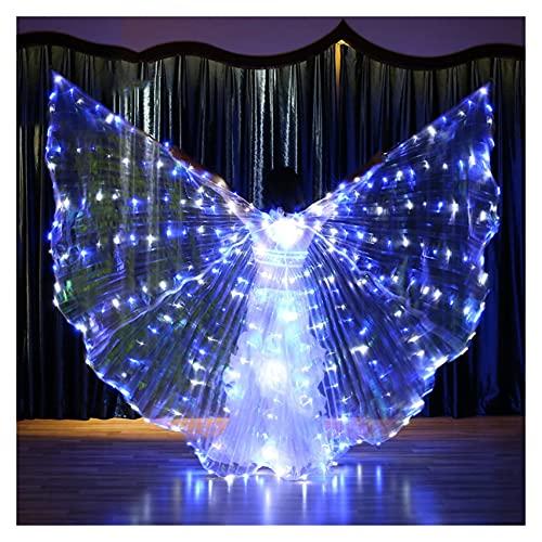 SUKDO Alas De Danza del Vientre para Mujer LED, Disfraz De Actuacin De Escenario De Halloween Alas De Mariposa De ngel Alas De ISIS,B
