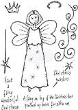 Lindsay Mason Designs A6 de Navidad Swishes doo-Lally-Pip Sellos, Transparente