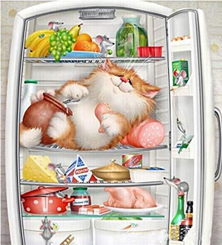 Diamond Painting 5D DIY Art Painting Adult Press Digitale Schilderkit Ambachten Geschikt voor Katten in Huis Wanddecoratie Koelkast 50X55cm