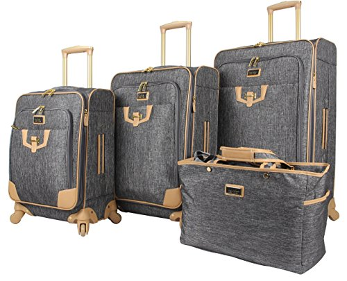 Nicole Miller Designer Luggage Paige Collection - 4...