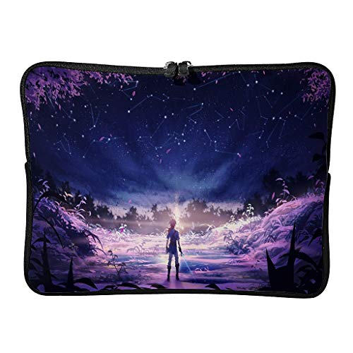 Regular Zelda-Romantic Laptop Bags Theme Reusable - Tablet Bag Suitable for Outdoor White 15 Zoll