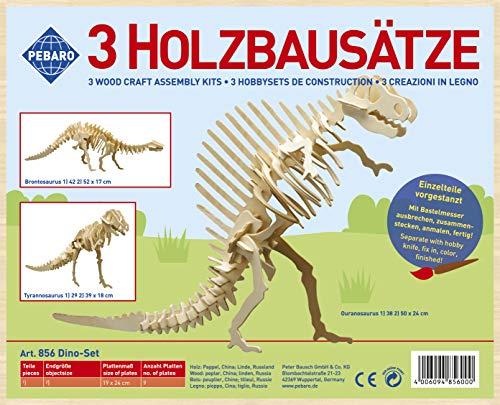 Holzbausatz Set 3D Puzzle - 3-teiliges Dino-Set